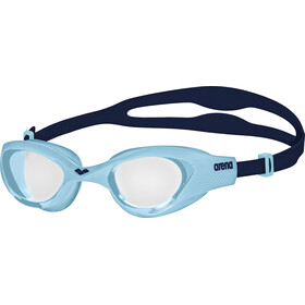 arena The One Lunettes de protection Enfant, clear-cyan-blue